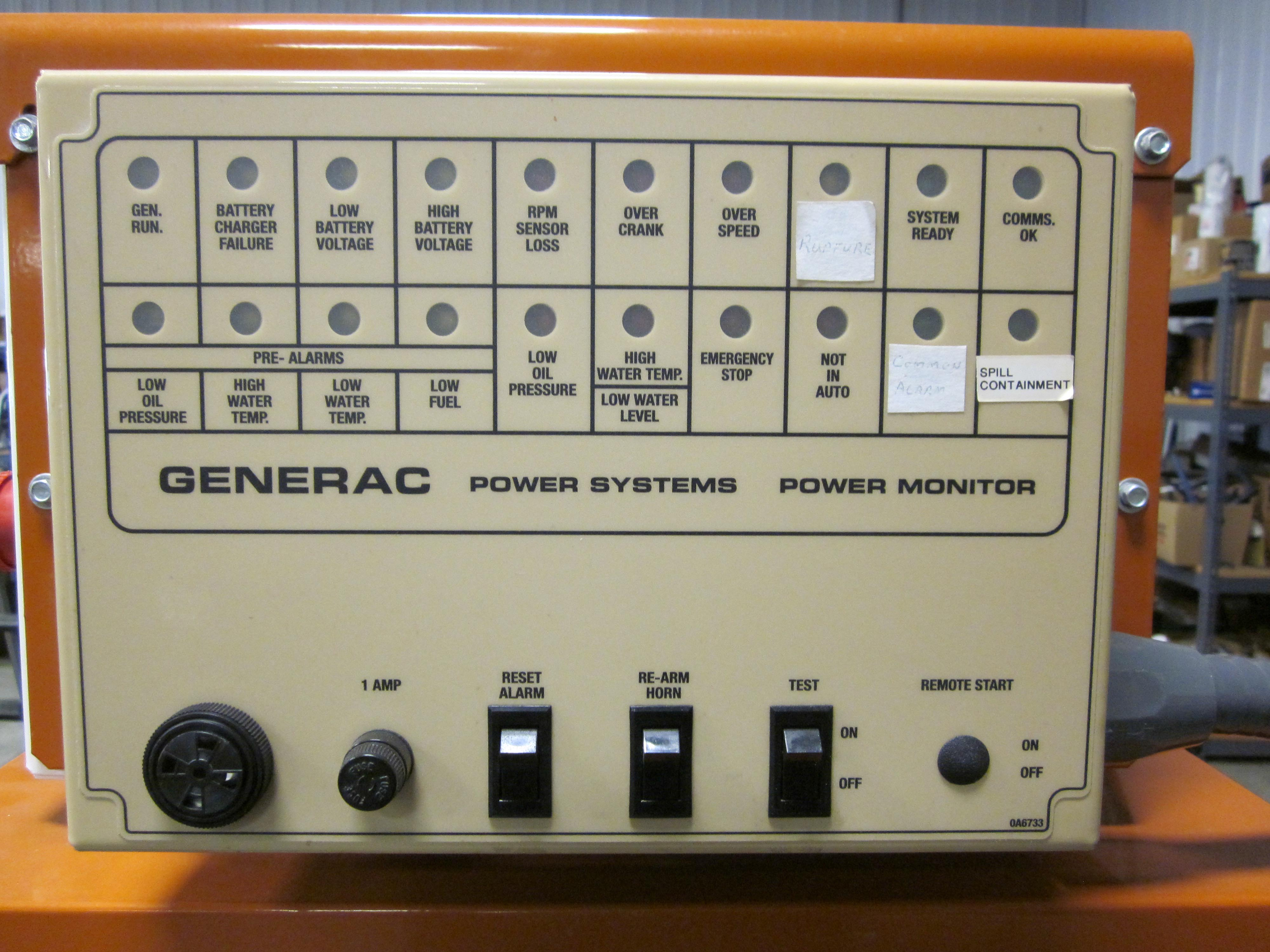 30 KW Generac Diesel Generator UsedShelter Used Tele