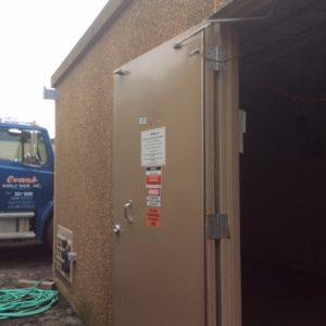 12' x 30' Fibrebond Concrete With 60 KW Generator