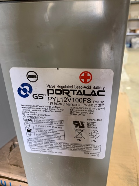 Portalac PLY12V100FS Batteries